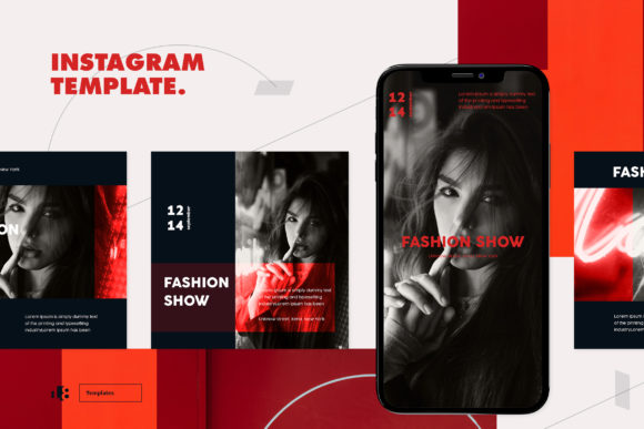 Print on Demand: Instagram Template Graphic Logos By ovoz.graphics