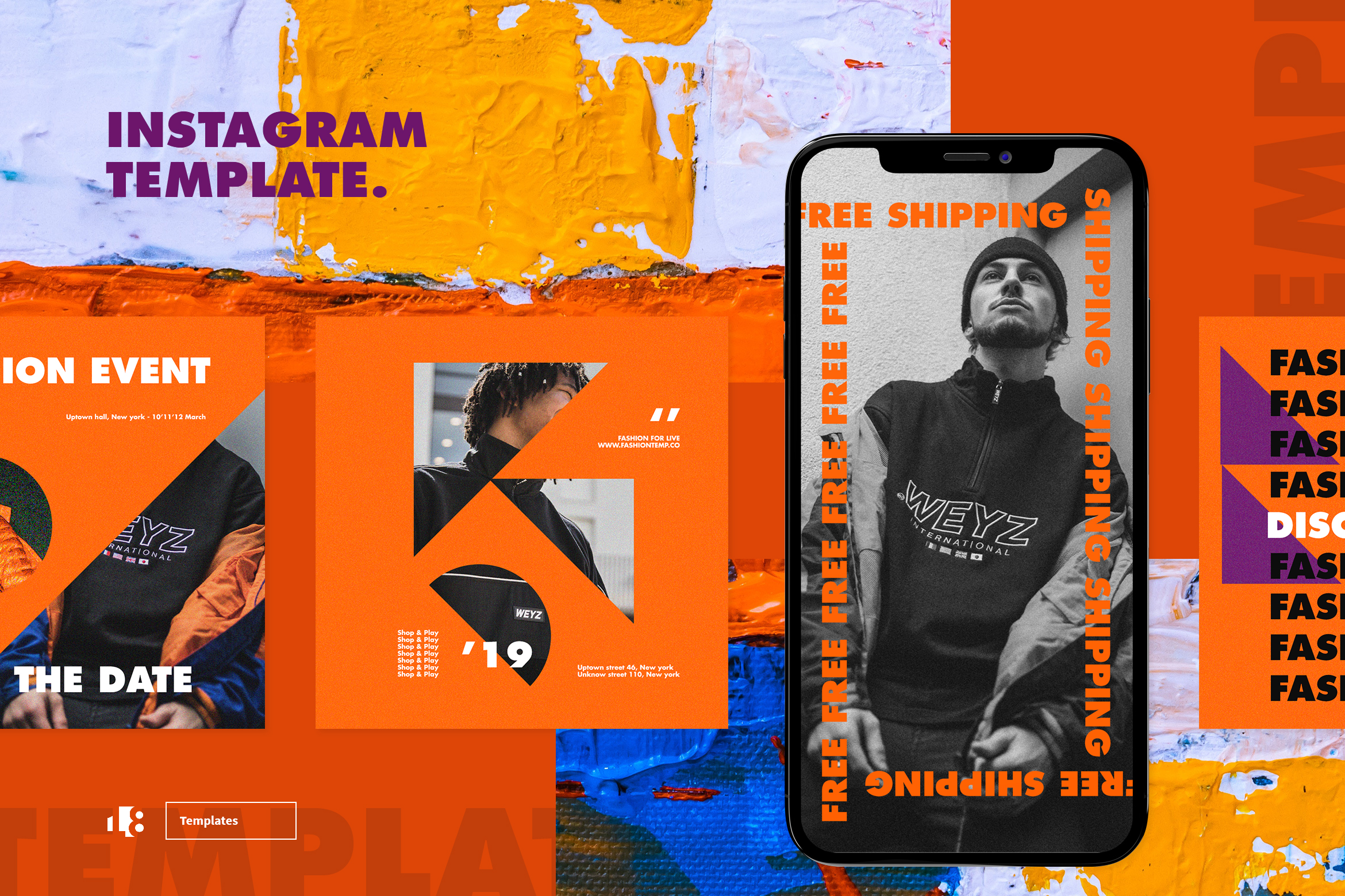 Download Free Instagram Template Graphic By Ovoz Graphics Creative Fabrica for Cricut Explore, Silhouette and other cutting machines.