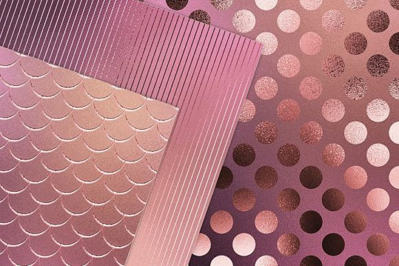 Print on Demand: Iridescent Gold Pink Textures Graphic Patterns By Creative Paper - Image 2