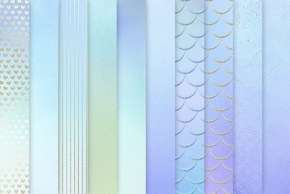 Print on Demand: Iridescent Gold Textures Graphic Patterns By Creative Paper - Image 2
