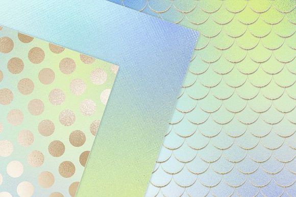 Print on Demand: Iridescent Gold Textures Graphic Patterns By Creative Paper - Image 3