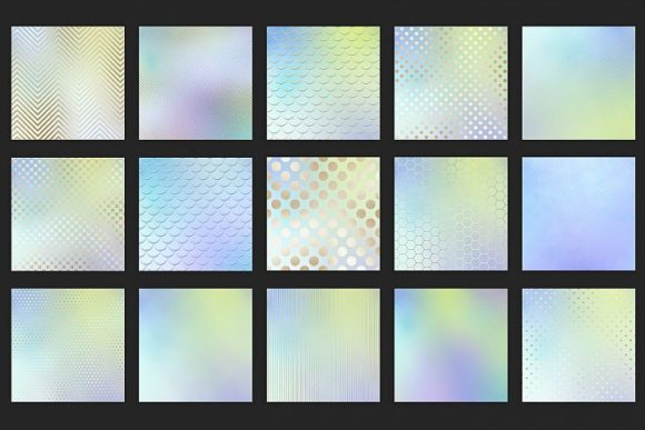 Print on Demand: Iridescent Gold Textures Graphic Patterns By Creative Paper - Image 4