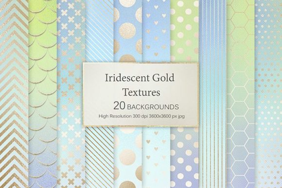 Iridescent Gold Textures Graphic Patterns By Creative Paper