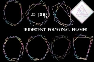 Iridescent Polygonal Frames Graphic By fantasycliparts