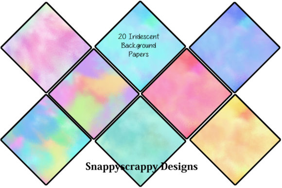 Iridescent Rainbow Background Papers Graphic Backgrounds By Snappyscrappy - Image 2
