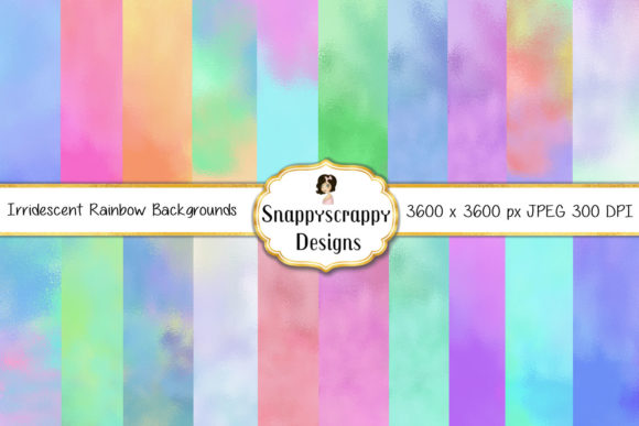 Iridescent Rainbow Background Papers Graphic Backgrounds By Snappyscrappy