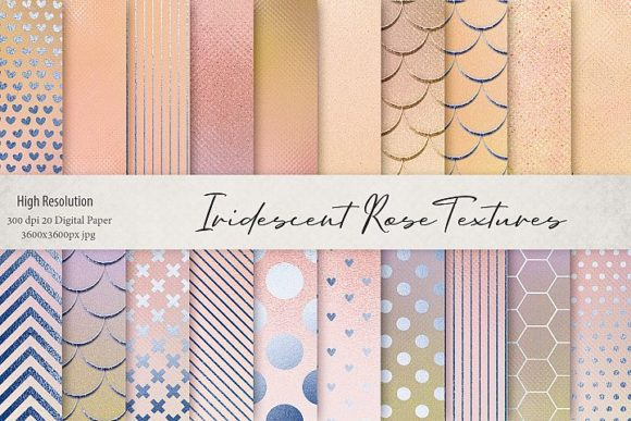Print on Demand: Iridescent Rose Textures Graphic Patterns By Creative Paper