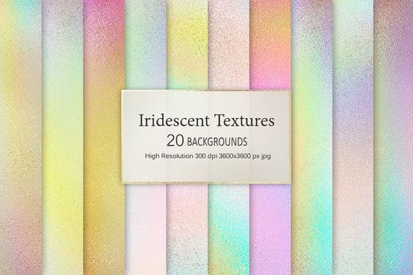 Print on Demand: Iridescent Textures Graphic Patterns By Creative Paper - Image 1