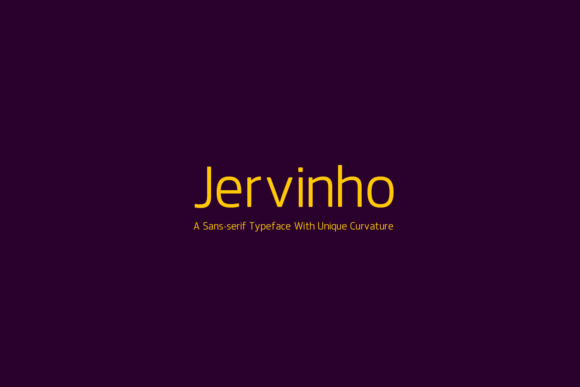 Jervinho Font By listenerStudio Image 1