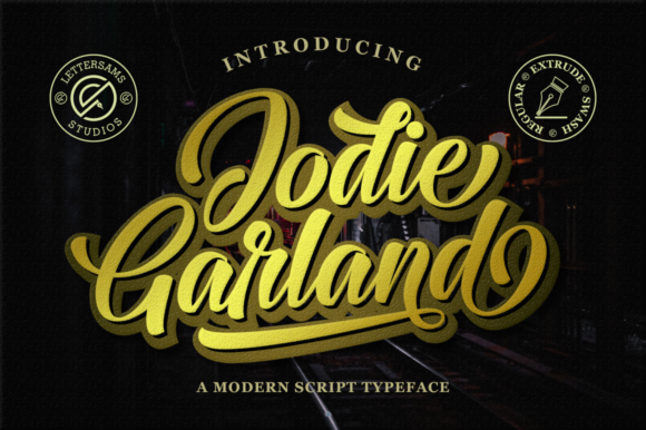 Print on Demand: Jodie Garland Script Script & Handwritten Font By Lettersams