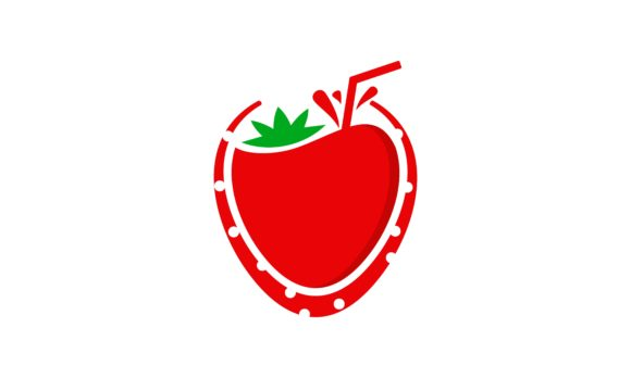 Juice Strawberry Fruit Fresh Logo Vector Graphic By Deemka