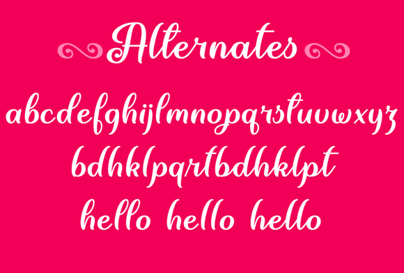 Print on Demand: June Calligraphy Script & Handwritten Font By Misti - Image 4