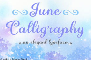 June Calligraphy Font By Misti