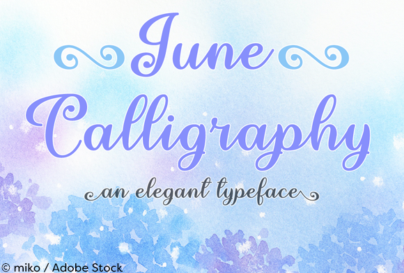Print on Demand: June Calligraphy Script & Handwritten Font By Misti