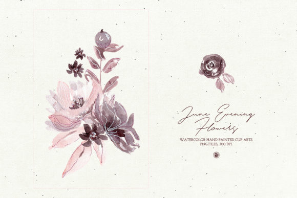 June Evening Flowers Graphic Illustrations By webvilla - Image 3
