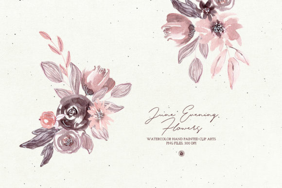 June Evening Flowers Graphic Illustrations By webvilla - Image 4
