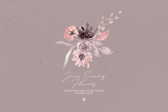 June Evening Flowers Graphic Illustrations By webvilla - Image 6