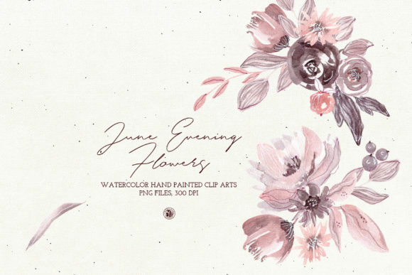 June Evening Flowers Gráfico Ilustraciones Por webvilla