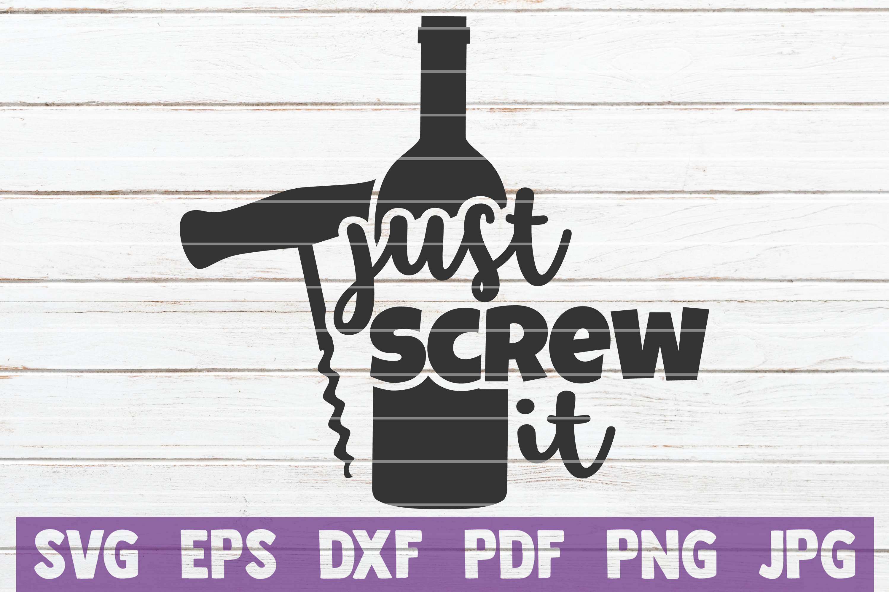 Download Free Just Screw It Svg Cut File Graphic By Mintymarshmallows for Cricut Explore, Silhouette and other cutting machines.