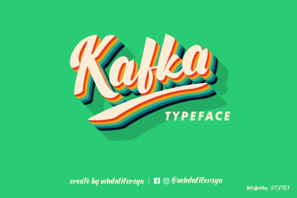 Print on Demand: Kafka Script & Handwritten Font By Muhammad Ersya