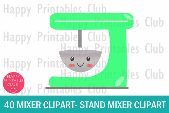 kawaii mixer clipart stand mixer clipart graphic by happy printables club creative fabrica kawaii mixer clipart stand mixer clipart
