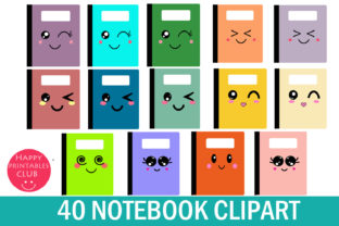 Kawaii Notebook Cover Clipart Graphics Graphic Illustrations By Happy Printables Club