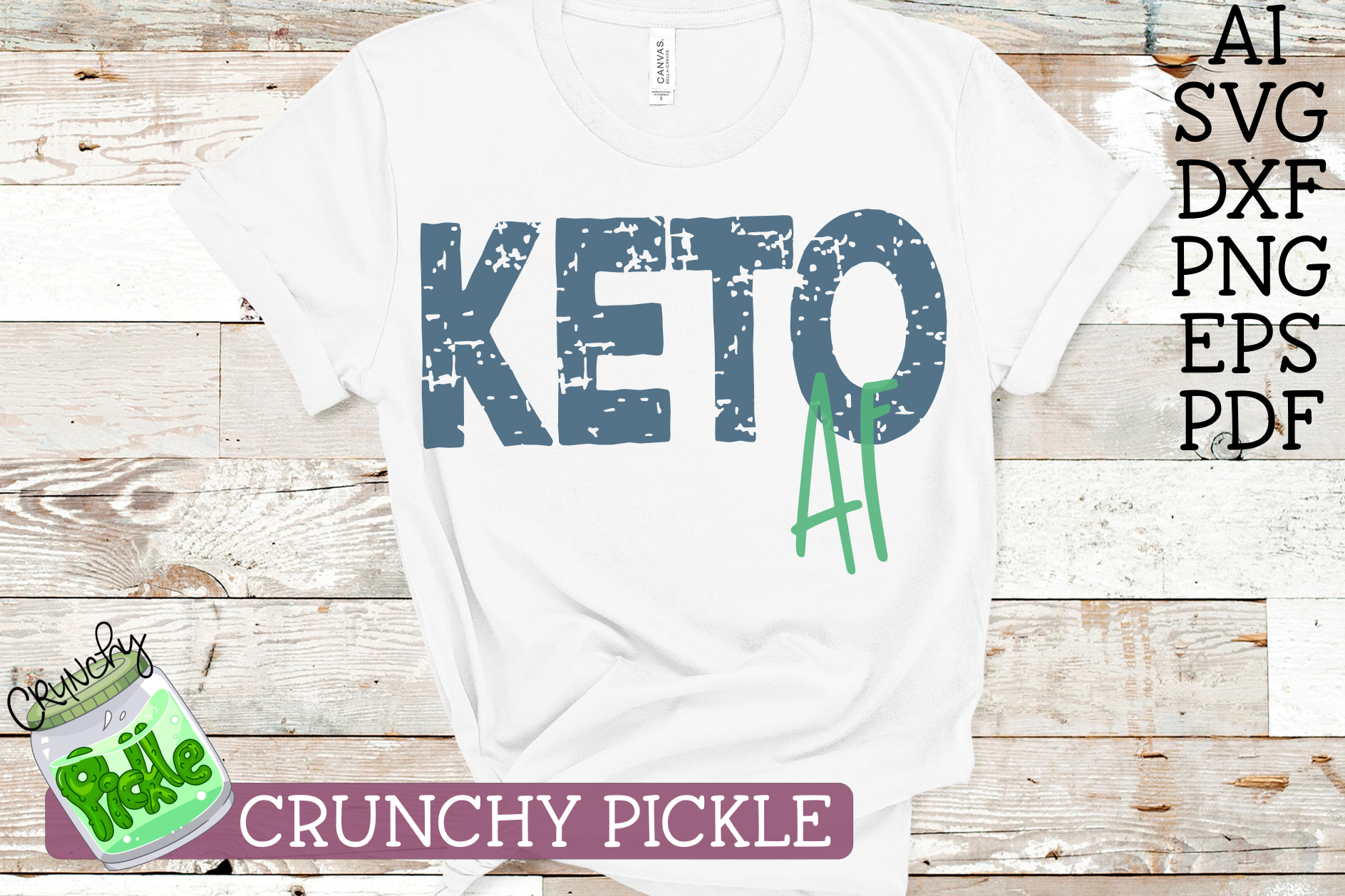 Download Free Keto Af Keto Diet Svg File Graphic By Crunchy Pickle for Cricut Explore, Silhouette and other cutting machines.