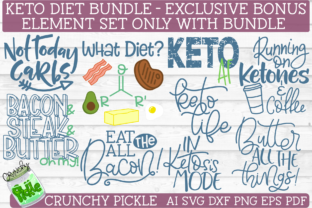 Keto Diet SVG Bundle Graphic By Crunchy Pickle