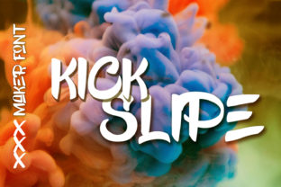 Kick Slipe Font By Muhammad Ersya