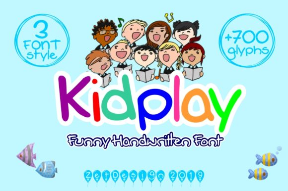 Print on Demand: Kidplay Script & Handwritten Font By ZetDesign