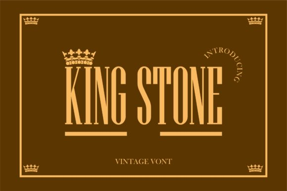 Print on Demand: King Stone Serif Font By hai hai