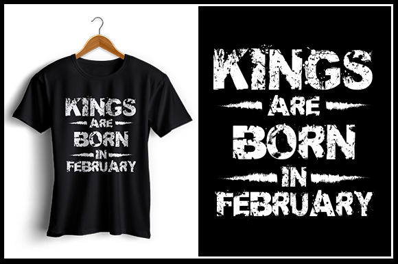 Download Free Kings Are Born In February Grafico Por Zaibbb Creative Fabrica for Cricut Explore, Silhouette and other cutting machines.