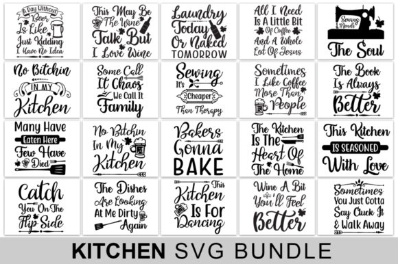 Kitchen Svg Bundle Graphic Crafts By Handmade studio