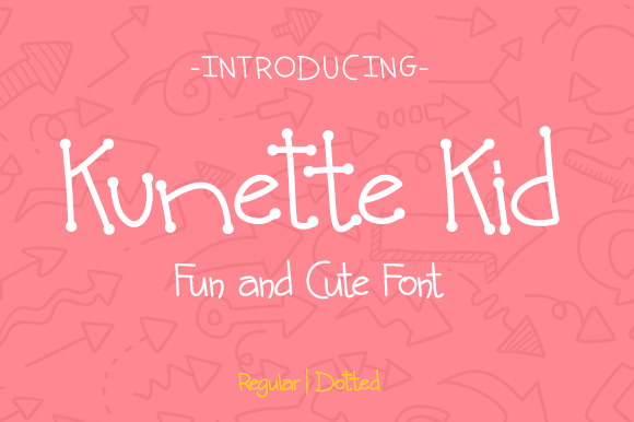Print on Demand: Kunette Kid Display Font By NoerHadi