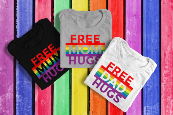 LGBT Hugs Trio Graphic By RisaRocksIt