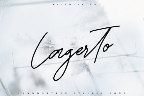 Print on Demand: Lagerto Script & Handwritten Font By Katie Holland