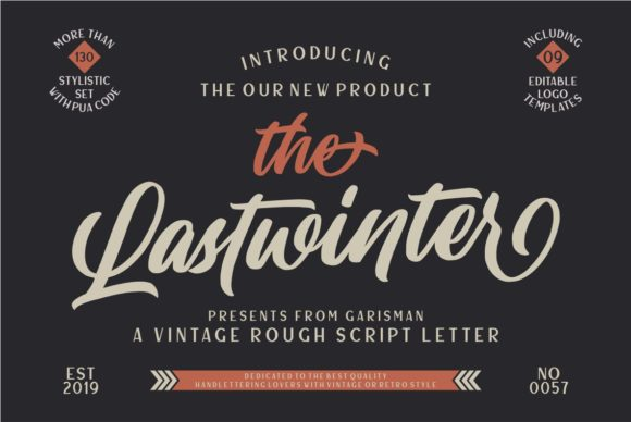 Print on Demand: Lastwinter Script & Handwritten Font By Garisman Studio