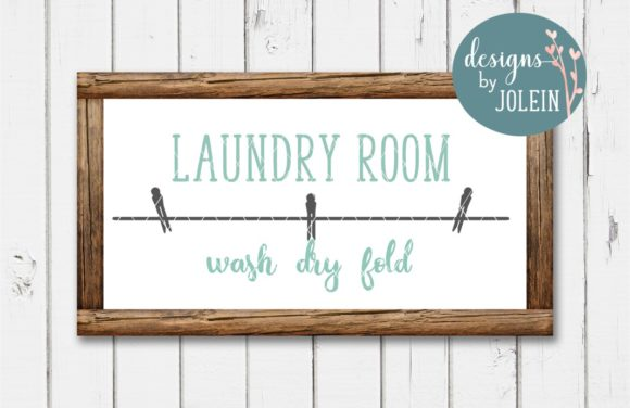 Laundry Room Wash Dry Fold Graphic By Designs By Jolein