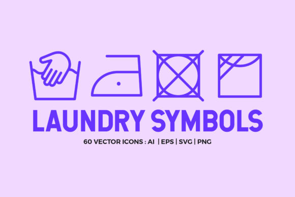 Laundry Symbols | Line Icons Graphic Icons By abstractocreate
