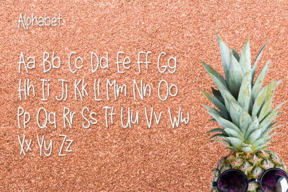 Print on Demand: Lazy Pineapple Sans Serif Font By Kristy Hatswell - Image 2