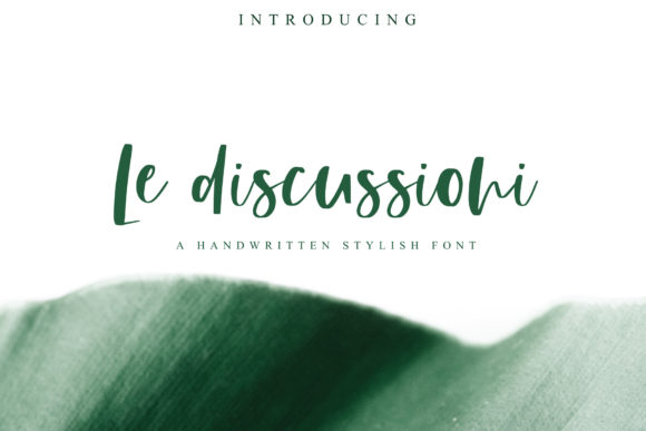 Print on Demand: Le Discussioni Manuscrita Fuente Por PaulaType