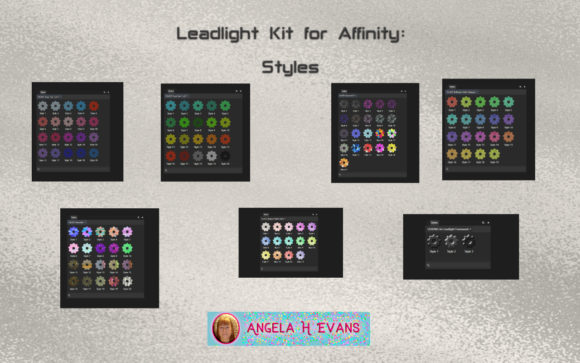 Print on Demand: Leadlight Designers Kit for Affinity Graphic Layer Styles By Angela H. Evans - Image 2