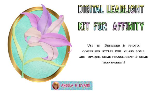 Print on Demand: Leadlight Designers Kit for Affinity Graphic Layer Styles By Angela H. Evans - Image 3