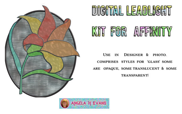 Print on Demand: Leadlight Designers Kit for Affinity Graphic Layer Styles By Angela H. Evans - Image 4