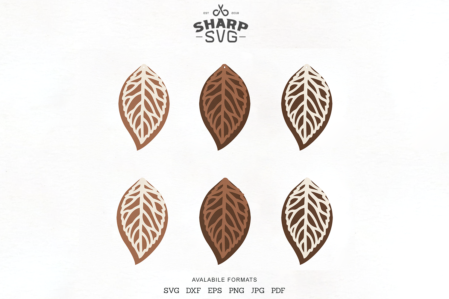 Download Free Leaf Stacked Earrings Cricut Files Graphic By Sharpsvg for Cricut Explore, Silhouette and other cutting machines.