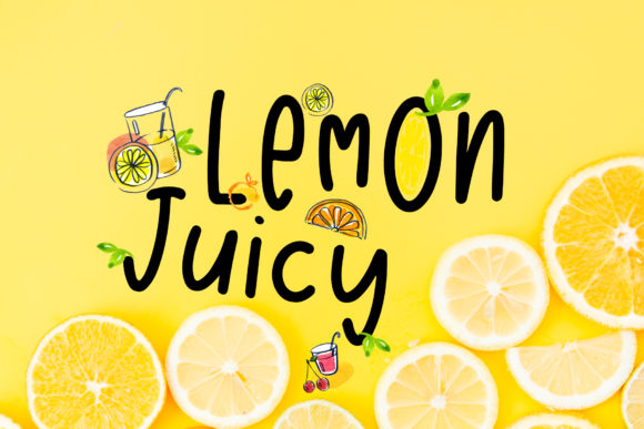 Print on Demand: Lemon Juicy Display Font By PaulaType
