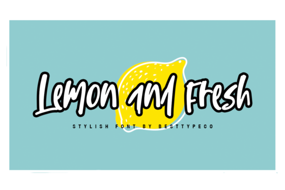 Print on Demand: Lemon and Fresh Manuscrita Fuente Por besttypeco