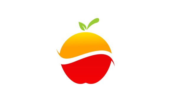 Download Free Lemon And Apple Fruit Fresh Logo Vector Graphic By Deemka Studio for Cricut Explore, Silhouette and other cutting machines.