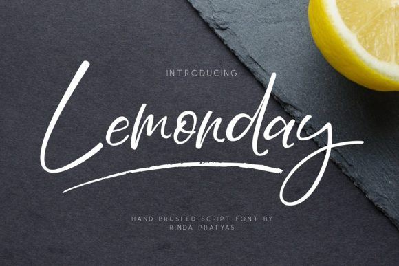 Print on Demand: Lemonday Script & Handwritten Font By Rinda Pratyas