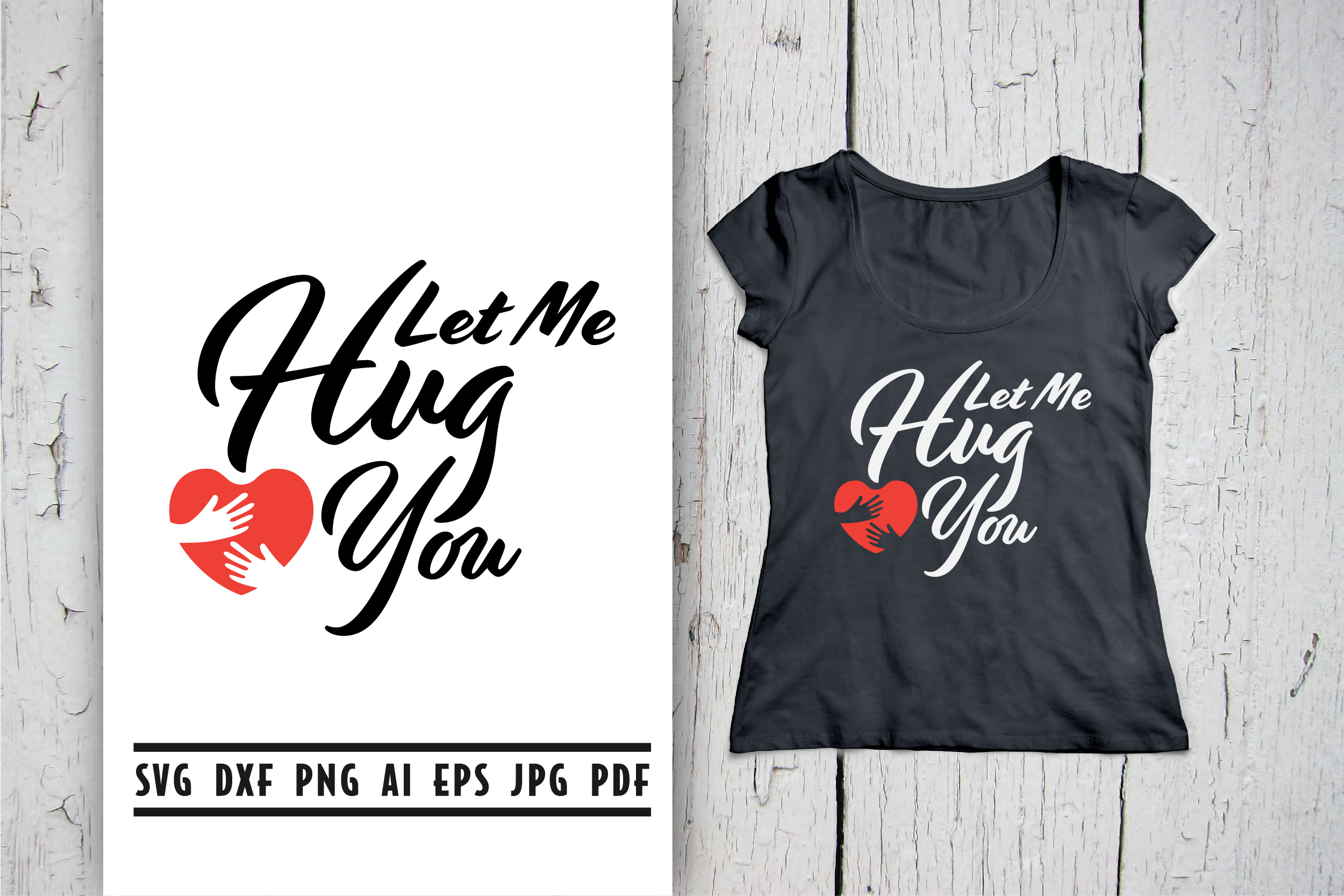 Download Free Let Me Hug You Quote Lettering Graphic By Vectorbundles for Cricut Explore, Silhouette and other cutting machines.